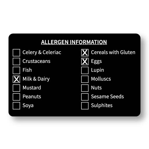 Allergen Information Card